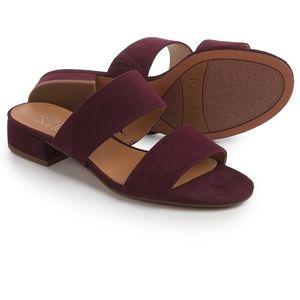 Franco Sarto maroon suede sandals
